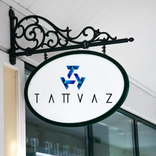 Hanging Wall Sign MockUp Tatvaz Logo 002