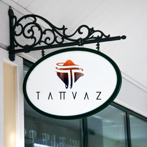 Hanging Wall Sign MockUp Tatvaz Logo 003